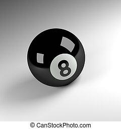 bola, oito,  render,  3D
