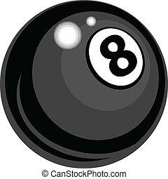 bola, oito, vetorial, desenho, bilhar
