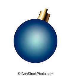 bola, ornamento, natal, ícone