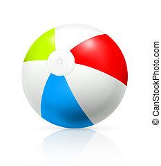 bola, praia