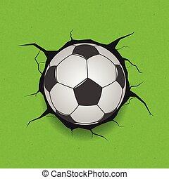 bola, rachado, futebol, fundo