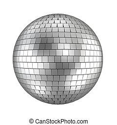 bola, render, -, discoteca, branca, 3d