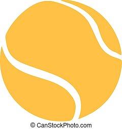 bola tênis, amarela