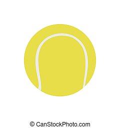 bola tênis, vetorial, isolado, branco, illustration., ícone, desporto, objeto, jogo