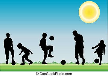 bola, tocando