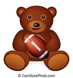 bola, urso, futebol