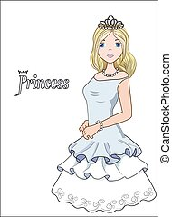 bola, vestido, princesa