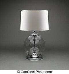 bola, vidro, cinzento, experiência., lâmpada, individula, sombra, tabela, branca