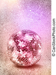 bola, vindima, discoteca, cores, espelho, prata