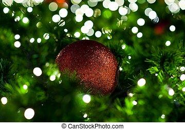 Bolas, árvore, Natal, coloridos