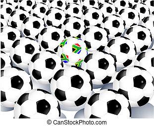 bolas, copo, áfrica, mundo, 2010, sul