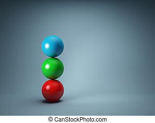 bolas, equilibrar