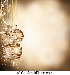 bolas, espaço, texto, livre, fundo, natal