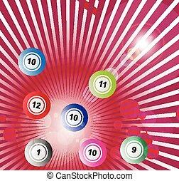 bolas, loteria, fundo