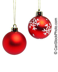 bolas, natal, vermelho