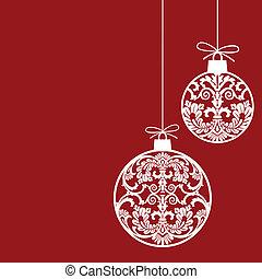 bolas, ornamentos natal