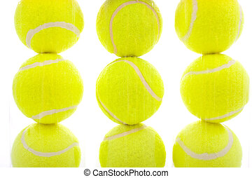 bolas tênis, branco