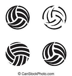 bolas, voleibol