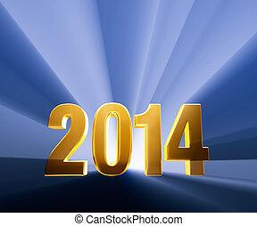 Bold 2014 - Gold 2014 on dark blue background brilliantly...