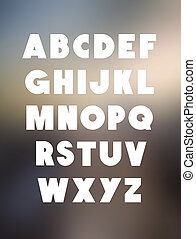 Bold alphabet font type