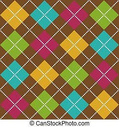 Bold Argyle Pattern - Bold Argyle background pattern in fall...