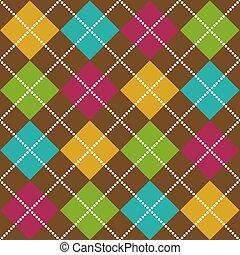 Bold Argyle Pattern - Bold Argyle background pattern in fall...