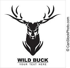 Bold Black Deer - symbolizing the power, protection,...