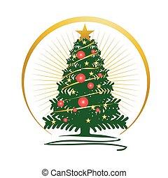 christmas tree illustration - bold christmas tree...