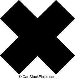 Bold cross icon