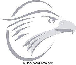 bold eagle bird template theme vector art illustration