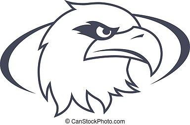bold eagle template - bold eagle bird template theme vector...