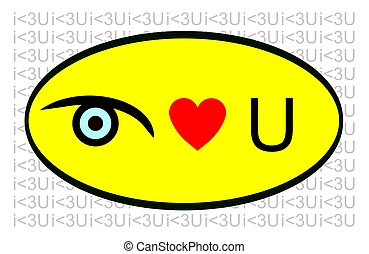 i love you - bold graphic text saying i love you
