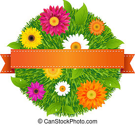 bold, hos, blomster