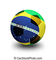 bold, hos, flag, i, brasilien