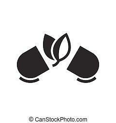 Bold Icon Natural pills. Alternative medicine icon