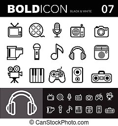 Bold line icons set. Illustration eps 10 - Bold line icons ,...