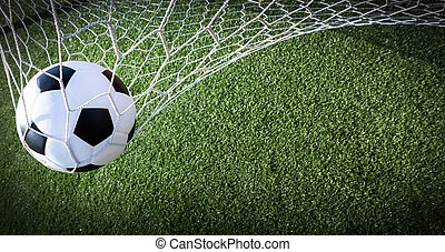 bold, mål soccer, begreb, held