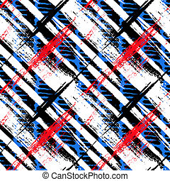 Bold pattern with wide brushstrokes and stripes - Vector...