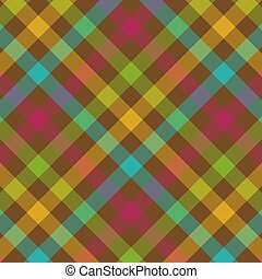 Bold Plaid Pattern - Bold plaid background pattern in fall...