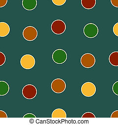 Bold Polka Dots - Polka Dots background pattern in bold...
