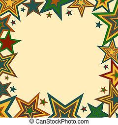 Bold Stars Border - A stars border illustration in fall...