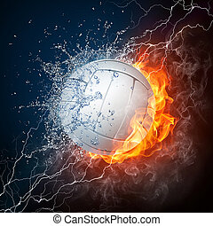 bold, volleyball