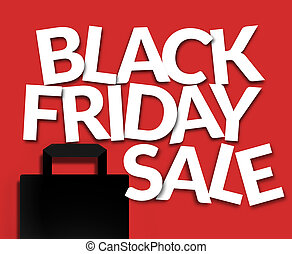 Bold white Black Friday Sale Illustration