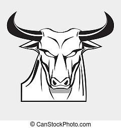 Bold White Bull