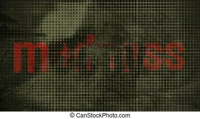 Bold words and blur people head,abstract old film material background