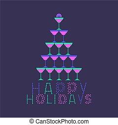 boldog, ünnepek, kártya