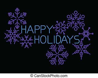 boldog, ünnepek, neon