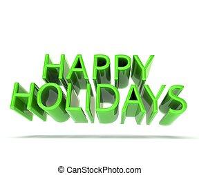 boldog, ünnepek, zöld háttér