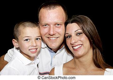 boldog, arc, család
