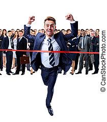 boldog, businessman út